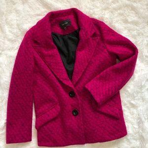 Karen Kane Textured Wool Jacket Size Large Pink